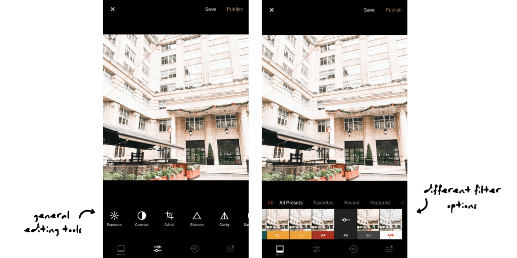 Examples of VSCO tools
